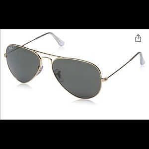 Ray-Ban RB3025 Aviator Polarized Sunglasses black
